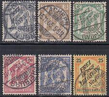 DR Dienstmarken 1905 Nr. 9 - 14 TOP gestempelt