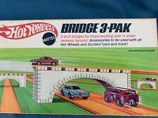 "1969 UNUSED HOT WHEELS "" BRIDGE 3-PAK "" w/ INSERT - MATTEL REDLINES / SIZZLERS"