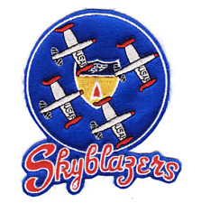 """4.5"""" AIR FORCE SKYBLAZERS AERIAL DEMO TEAM EMBROIDERED PATCH"""