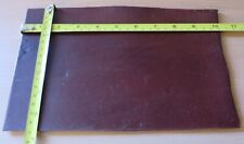 """BROWN BRIDLE LEATHER PIECE   3.mm THICK  10"""" X 6.5"""" ( 25 X 16CM)  - CLEARANCE"""