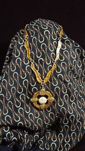 CHANEL Pre-Fall 2007 Monte Carlo Gold Tone & Shimmer Gripoix Glass Necklace
