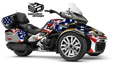 "Can Am Spyder F3-LTD Decal Graphic Wrap kit - ""Patriot US Army"""