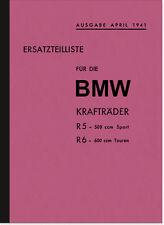 BMW R 5 und R 6 1941 Ersatzteilliste Ersatzteilkatalog Teilekatalog R5 R6