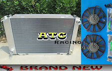 52MM Aluminum Radiator & 2* Fans for 1979-1993 FORD MUSTANG 87 88 89 90 91 92 93