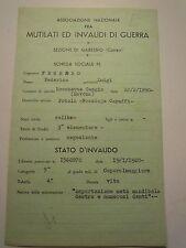 SCHEDA MILITARE REGIO ESERCITO FANTERIA 1915-18 MEDAGLIA AL VALORE MILIT C10-214