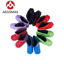 Aegismax Sleeping Bag Accessories White Duck Down Slippers Ultralight Shoe Cover