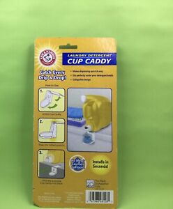 Arm & Hammer Handy Folding Laundry Liquid Detergent Flat Storage Cup Caddy