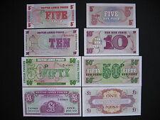 Great Britain 5 + 10 + 50 peniques + 1 Pound 1962/72 (pm36a + pm47-pm49) UNC