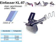 Einfasser KL-87, NUR unten offen, Schrägband 18 zu 5 mm, UNIVERSELL passend