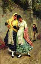 Blaas Eugene De The Flirtation A4 Print
