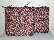 ZIPPY TWIN PACK - FLORAL - DINING CHAIR CUSHION SEAT PAD - GARDEN FURNITURE -