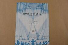 songsheet BLUES IN THE NIGHT, Harold Arlen 1941
