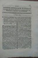 1784 NUOVO GIORNALE D'ITALIA: ELETTRICITA' DEI VEGETALI ED ELETTRICITA' ANIMALE