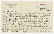 1933 | Anne LINDBERGH | letter ALS signed | American aviator | shetlands + card