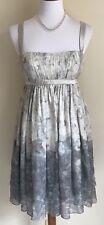 Marchesa Notte Grecian Dress Empire Waist Layered Silk Vintage Floral Short Sz 6