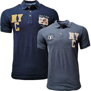JACK JONES Herren Polo Shirt  2er Pack Kurzarmshirt Poloshirt Freizeithemd T LEO