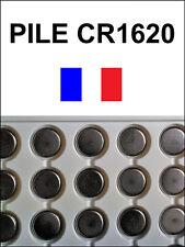 2 PILES CR1620 / CR 1620 / 3V LITHIUM / ENVOI RAPIDE