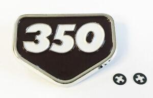 Honda CB350K CL350K 1968 Side Cover Emblem w Attachment Clips 87128-287-010 NEW!