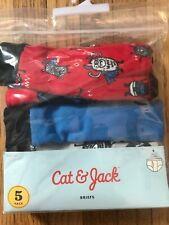 Brand New in pkg. 5-Pack Cat & Jack Boys' Briefs, Size 6/7,