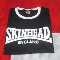 Skinhead England T Shirt RINGER BLACK