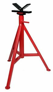 "Toledo Pipe 56662 1/8""-12"" V High Head Pipe Stand 27""-48"" fits RIDGID® VJ-99"