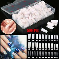 500PCS Artificial Nails French False Half Nail Art Tips Acrylic UV Gel New