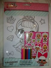 LOL Surprise Colouring Set Colouring Sheets Colouring Pencils Stickers Brand New