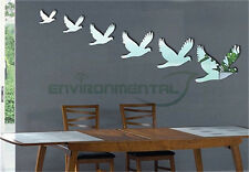 Pigeons Flying Acrylic Plastic Mirror Wall Art Home Decal Decor Sticker Glass