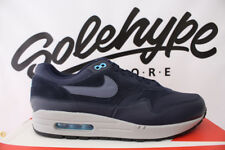 NIKE AIR MAX 1 PREMIUM OBSIDIAN NAVY BLUE FURY BLACK CARBON 875844 401 SZ 9.5