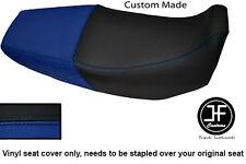 Negro y Azul Real Vinilo Personalizado SE AJUSTA a HONDA Xr 125 03-12 Dual Cubierta de asiento solamente
