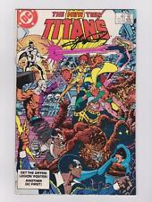 THE NEW TEEN TITANS 37 SIGNED GEORGE PEREZ W/COA MARV WOLFMAN ROBIN TALES
