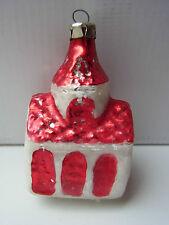 Weihnachtsschmuck Christbaumschmuck Kirche Rot Silber Weiß Church Glas Lauscha
