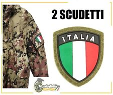 2PZ Toppa Patch Scudetto Italia Crest pvc uniforme militare bandiera Italiana