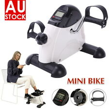Mini Pedal Exerciser Gym Bike Fitness Exercise Cycle Leg/Arm Handle LCD Display
