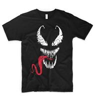 Venom T Shirt Face Mask Logo Spiderman Marvel DC Comics Deadpool Batman Superman