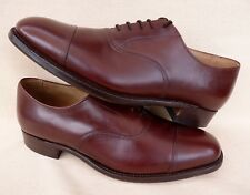 CHEANEY Mens Oxford Shoes Brown Toe Cap Formal Church Wedding Shoes UK 8 NEW