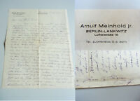 Pacemaker Arnuld Meinhold (1899-1943): Eh. Brief Hannover 1932 An Sua Donna