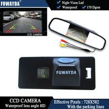 4.3'' Mirror Monitor CCD Reverse Camera for AUDI A1 A4 (B8) A5 S5 Q5 TT PASSAT