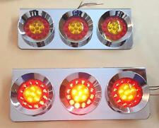 2x unica LED LUCE POSTERIORE CROMO ACCIAIO INOX CUSTODIA rimorchio
