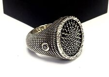 The Knight Metal Armor Ring With Black Diamond By Sacred Angels