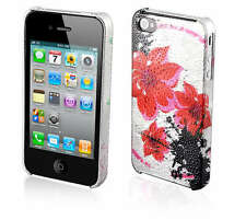 Water Bling Hot Hibiscus Hard Case Cover For iPhone 4G