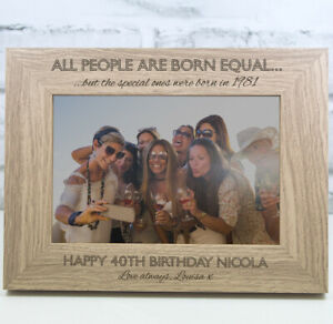 Personalised Photo Frame Birthday Gift 18th 21st 30th 40th 50th