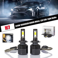 LED H7 420W 160000LM 6000K Low Beam Bright Power for 2004 2005 2006 BMW 545i !