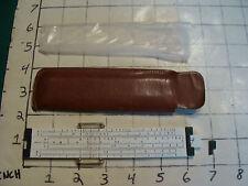 vintage Pocket Slide Rule:  PICKETT model 61 in sleeve ( dark )