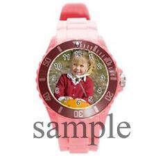 Personalized Custom Logo, Design, Photo, Text Round Plastic Sport Watch Large