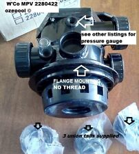 Waterco CLAMP ON(FLANGE) Multiport Valve 40mm, Pool Sand Filter 2280422 COMPLETE