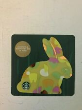 STARBUCKS CARD - 2018 YELLOW EASTER BUNNY RABBIT DIE CUT CARDSTOCK NEW NO VALUE
