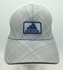 Adidas Patch Front Three Stripe Logo Grey Plaid Fitted Small Medium Hat Cap