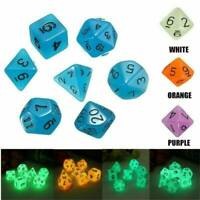 Hot Luminous Polyhedral Dice Set For TRPG MTG Dungeons & Dragons DND Table Game