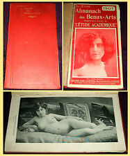 1907 Almanach des Beaux-Arts, 49 Nude photo studies, Art Nouveau Erotic Almanac